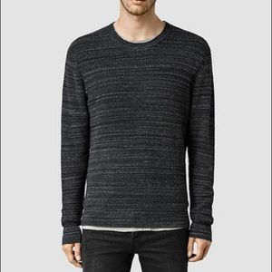 NEW All Saints Rydal marled charcoal sweater